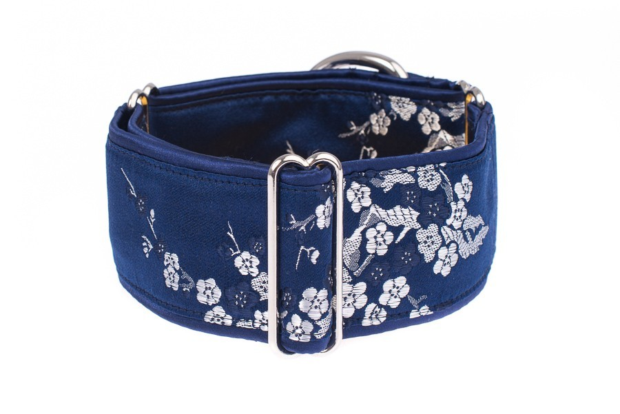 Široký obojek pro psa - Blue sakura