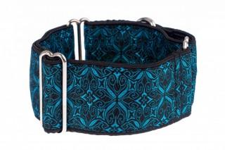 Široký obojek pro psa - Black turquoise aristocratic č.1