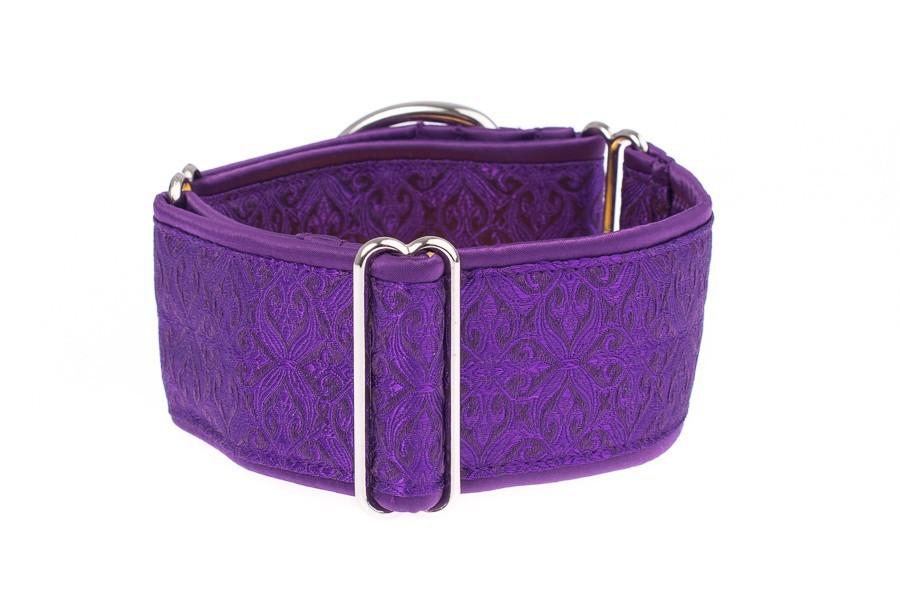 Široký obojek pro psy fialový - Purple aristocratic