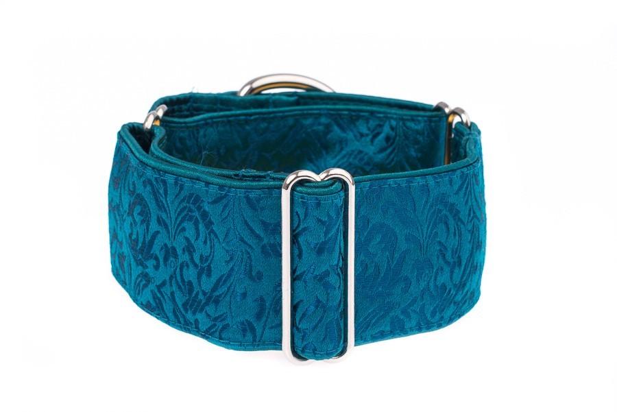 Široký obojek pro psy - Turquoise ornaments