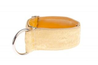 Polostahovací obojek pro psy zlatý - Gold ornaments č.1