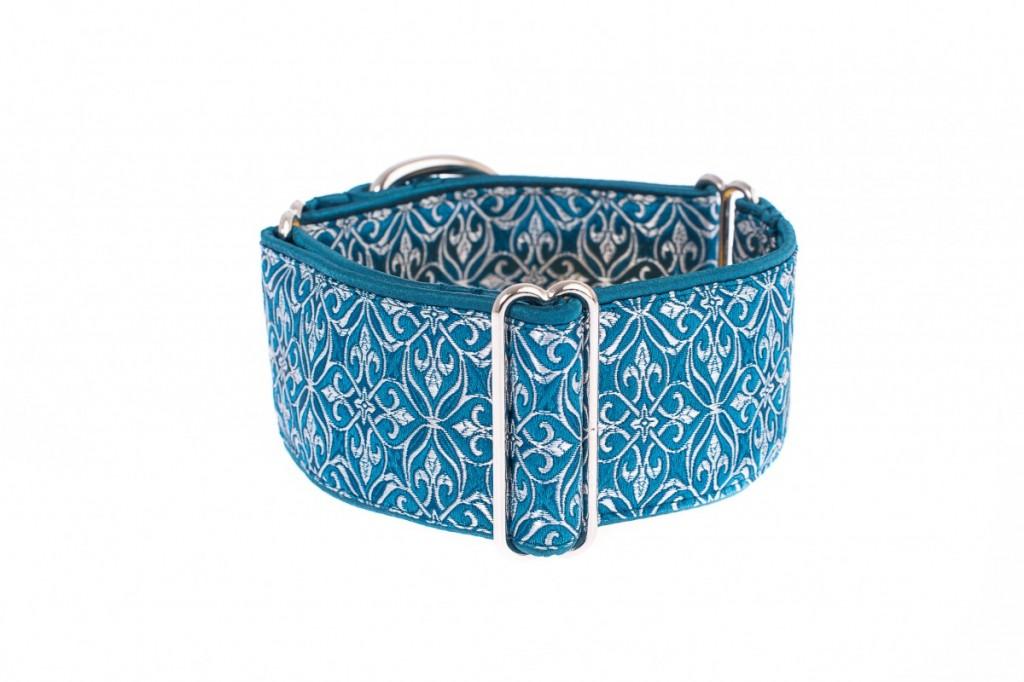 Luxusní obojek pro psa - Turquoise aristocratic