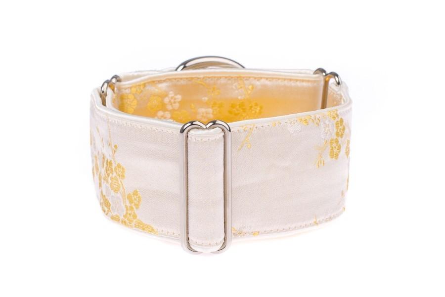 Luxusní obojek pro psy - Ivory sakura
