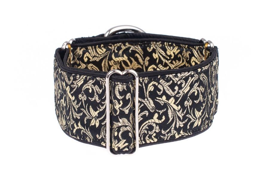 Luxusní obojek pro psa - Black - gold ornaments